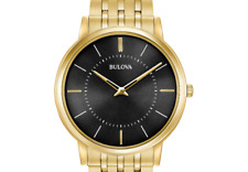 Bulova Men's Analog-Quartz Watch with Stainless-Steel Strap, Gold (Model: 97A...