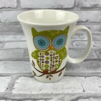 Owl Mug Ceramic Coffee Mug Cup Big Blue Eyes Decorative by Nana Tree Fall