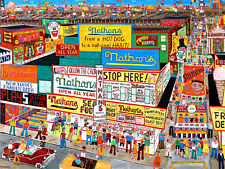 BROOKLYN  PRINT-NATHAN'S CONEY  ISLAND-Hot Dog,Seafood,Burger