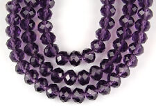 72pcs Plum Chinese Crystal Faceted Rondelle Loose Beads Jewelry Making Spacer