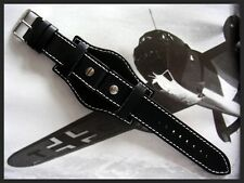 Black Rivet BUND utc NATO Flieger German Pilot watch band IW SUISSE 18-20-22-24m