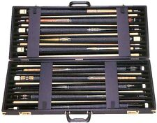 Dealers 10x10 Pool Cue Case Solid Black Case w/ FREE Shipping