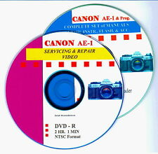New listing Canon Ae-1 & Ae-1 P Combined Master Servicing & Repair Video on Dvd & Data on Cd