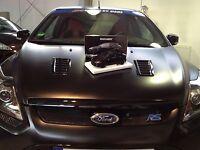 1/18 Ford Focus RS 500 mattschwarz MINICHAMPS 100 080000 MINT BOXED !