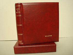 Album BILLETES con Cajetín standard  GRANATE.Tamaño 27x33cm.Incluye 10 Hojas 4D
