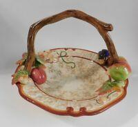 "Fitz Floyd Venetian Romance Basket Bowl Dish Centerpiece MIB 11 3/4"" x 8"""