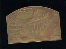 Plaquette Médaille Uniface Caisse D'épargne Bouches Du Rhône 1821-1921