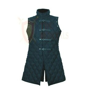 THE MEDIEVALS Gambeson Full Length VEST Thick Padded Coat Aketon Armor Costume