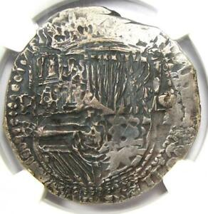 1555-98 Bolivia Philip II Cob 8 Reales Coin (8R) KM-5.1 - Certified NGC VF30