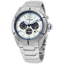 Citizen Eco Drive White Dial Stainless Steel Men's Watch CA410057A