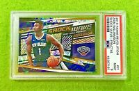 ZION WILLIAMSON FRACTAL PRIZM ROOKIE CARD PSA 9 MINT PELICANS 2019-20 Revolution