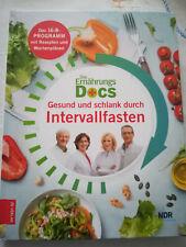 Die Ernährungs-Docs - Gesund und schlank durch Intervallfasten - neues Buch ...