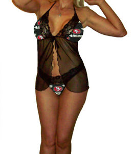 San Francisco 49ers Lace Babydoll Teddy w/G-String Panty -Sizes X-Small - Large