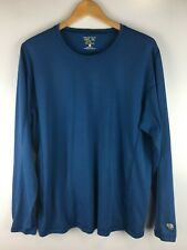 Mountain Hardwear Men's Long Sleeve Blue 100% Polyester Xl