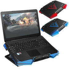 Dual USB 5 Fans Laptop Cooler Notebook Cooling Pad LED Radiator Mat Adjustable