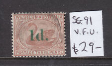New listing W.A.: 1d On 3d Surcharge Sg 91 V.F.Used