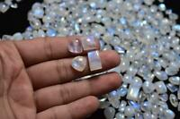 Mix Lot Flashy Rainbow Moonstone Wholesale Lot Cabochon Loose Gemstone Free Size