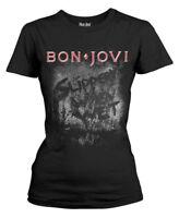 Bon Jovi 'Slippery When Wet Album' Womens Fitted T-Shirt - NEW & OFFICIAL