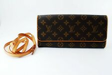 Auth Louis Vuitton Monogram Pochette Twin GM Sholder Bag M51852 FL0011 Browns