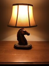 Resin Knight horse table lamp