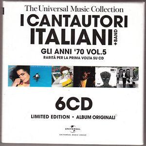 I CANTAUTORI ITALIANI gli anni '70 - vol. 5 BOX 6 CD