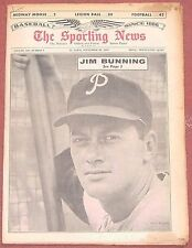 9-18-65 SPORTING NEWS PHILADELPHIA PHILLIES JIM BUNNING ON COVER BASEBALL