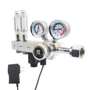 Aquarium Dual Stage CO2 Regulator Adjustable Output Pressure With Solenoid Valve