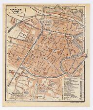 1910 ANTIQUE CITY MAP OF HAARLEM / HARLEM / HOLLAND NETHERLANDS