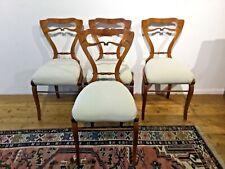 4 Wiener Biedermeier Sessel Kirsch um 1820