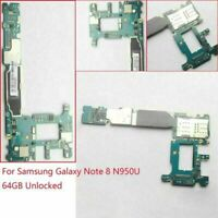 1*Main Motherboard Logic Board 64GB for Samsung Galaxy Note 8 SM-N950U Unlocked
