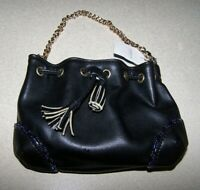 LIZ CLAIBORNE CLIP TO BE HIP BLACK MINI PURSE BAG HANDBAG NWT