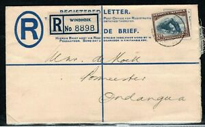 1950 South West Africa (SWA) 4d postal stationary envelope with 2d stamp