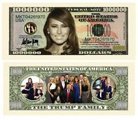 Pack of 25 - Melania Trump 1 Million Dollar Bill Collectible Novelty Note
