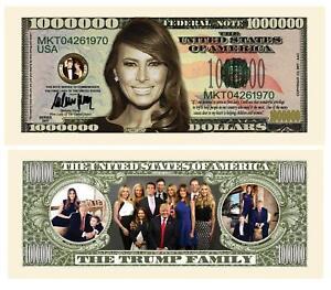 25 Melania Trump First Lady and Family Money Million Dollar Bills Note Lot