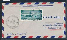 06492) KLM FF Amsterdam - Casablanca 5.11.60, DS ab Libanon RR!!