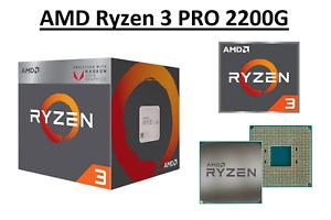 AMD Ryzen 3 PRO 2200G Quad Core Processor 3.5 - 3.7 GHz, Socket AM4, 65W CPU