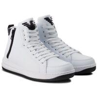 Scarpe Uomo Emporio Armani EA7 X8Z007 XK025 Sneakers Stivaletto Nere Bianche