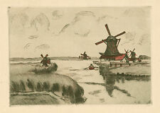 "Armand Guillaumin original etching ""Zaandam"""