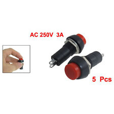 5 pz AC 250V 3A SPST On / Off Autobloccante interruttore a pulsante HKIT