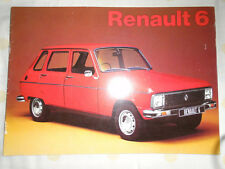 Renault 6 range brochure Jul 1973