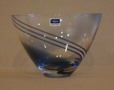 ### LOVELY SMALL BLUE AND GREY CAITHNESS GLASS BOWL ###