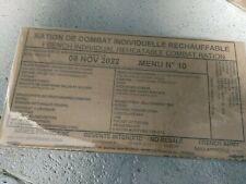 #2022# Menu 10 , French MRE IRP Military Food RCIR 24H MENU Combat Box US France