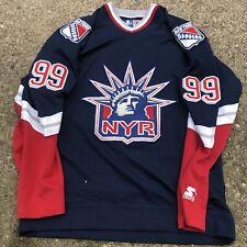 Vintage New York Rangers Lady Liberty Wayne Gretzky Starter Jersey Size Medium
