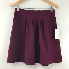 6c66a0d959f869 A New Day Womens Wild Cherry Pleated Mini Skirt Size XS-S