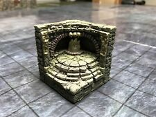 Dwarven Forge Painted Resin 2 X 2 Catacombs Corner Wall w/Flame LED Light D&D