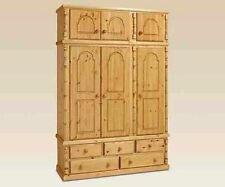 Pine Handmade Wardrobes with More than 4 Doors