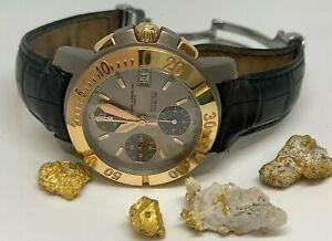 Baume Mercier Capeland Automatic Chronograph 40mm Watch Titanium 750 18k Gold