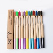 KIDS 100%NATURAL BAMBOO/WOODEN TOOTHBRUSH ECO FRIENDLY  BIODEGRADABLE