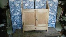 More details for antique, pine, double-doored cupboard with drawer: for bathroom or kitchen use