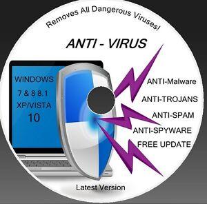 NEW ANTI VIRUS +DON'T PAY ANY MORE  TROJAN CD DVD (XP/VISTA/WINDOWS 7/8 /88.1/10
